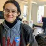 Student Angely Martinez voted for the first time in a local election (c) 2017 Marita Perez Diaz