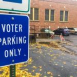 Voter parking lot.