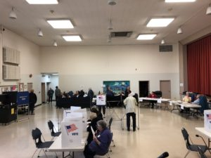 People vote at Salina Town Hall.