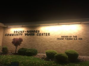 A picture of the Solvay Community Youth Center building.