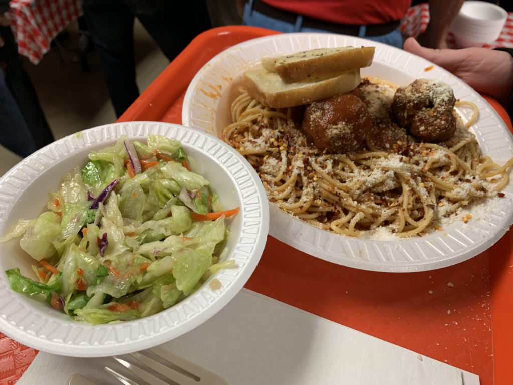 Food from the Spaghetti Supper