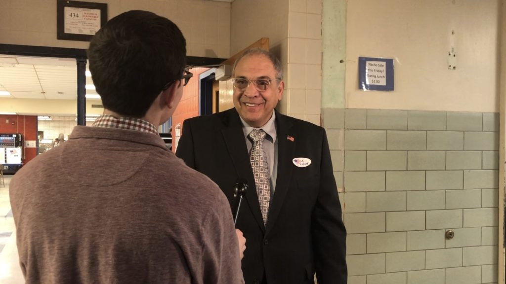 Greg Bradbury from NCC News interviews Democratic candidate for Onondaga County Executive, Tony Malavenda, before his Election Day appearances.